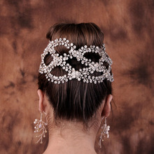 Floralbride Handmade Luxury Wired Clear Rhinestone Crystal Wedding Headband Bridal Princess Tiara Hair Accessories Women Jewelry