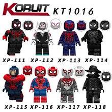 KT1016 8pcs/set Marvel Avengers Spiderman Spider-Verse Ultimate Spider-Man Noir Gwenom Building Blocks Kids Toys blocks Figure marvel universe ultimate spider man
