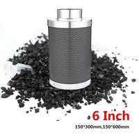 6 Inch Carbon Filter Greenhouse Hydroponic Activated Carbon Filter Air Purifier Parts S/L Charcoal Air Exhaust Filter Cotton Kit