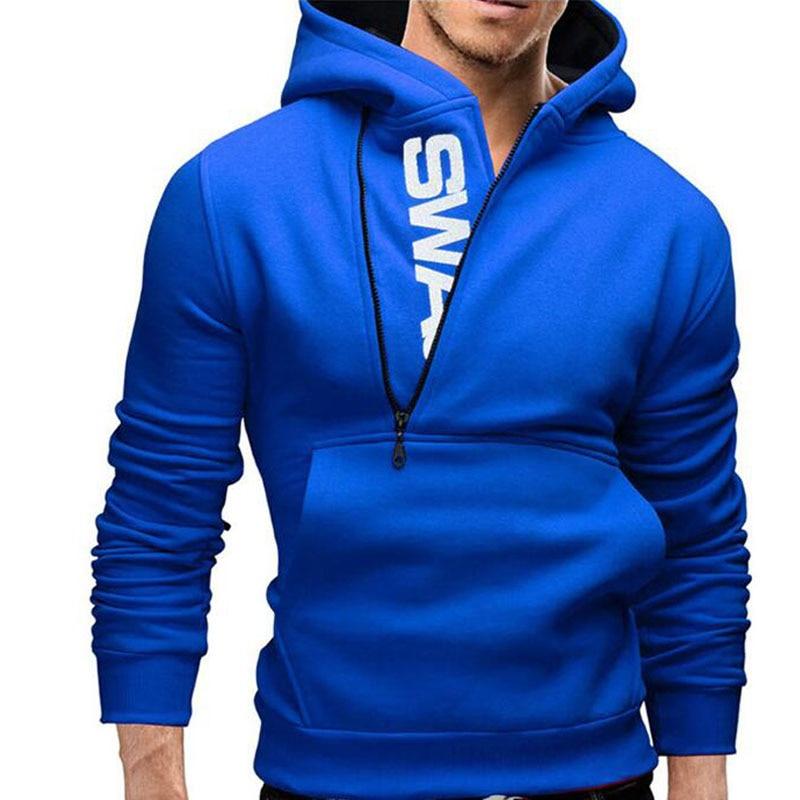 Hot Style Assassins Creed Fleece Inclined Zipper Hooded Fleece Jackets Men's Fleece Single Male