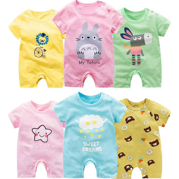 Baby romper Summer Newborns Clothing Short Sleeved Cotton Newborn Baby Girl Clothes infant rompers Jumpsuit Boys body suit baby romper infant toddler boys gentlemen clothes bowknot long sleeve cotton rompers body clothing jumpsuit