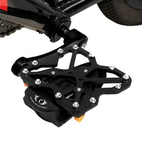 2 PCS Clipless Adapter Bike Pedal Adapters + 2 PCS SPD SL Cleats Set Bicycle Pedals Platform Adapters with Road Cleat, Size: Lar