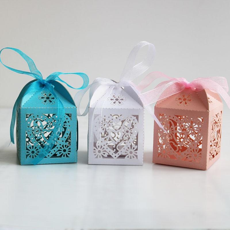 Bonne qualité amour coeur gâteau boîte emballage multicolore carton mariage cadeau boîte papier bonbons sac pour la fête