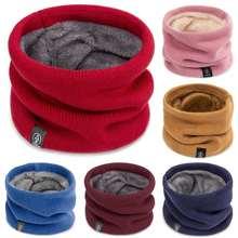 Зимний теплый шарф для мальчиков и девочек детский толстый шерстяной