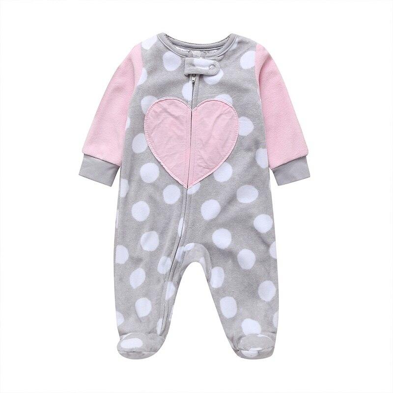 Комбинезон для маленьких девочек с рисунком единорога; зимняя одежда для новорожденных мальчиков с длинными рукавами; 0-12 месяцев; с круглым вырезом; на молнии;