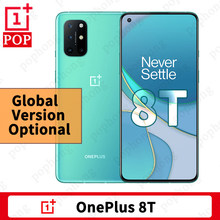 Versão global opcional oneplus 8t telefone móvel 6.55 120120120hz amoled snapdragon 865 octa núcleo android 11 na tela 65w urdidura carga