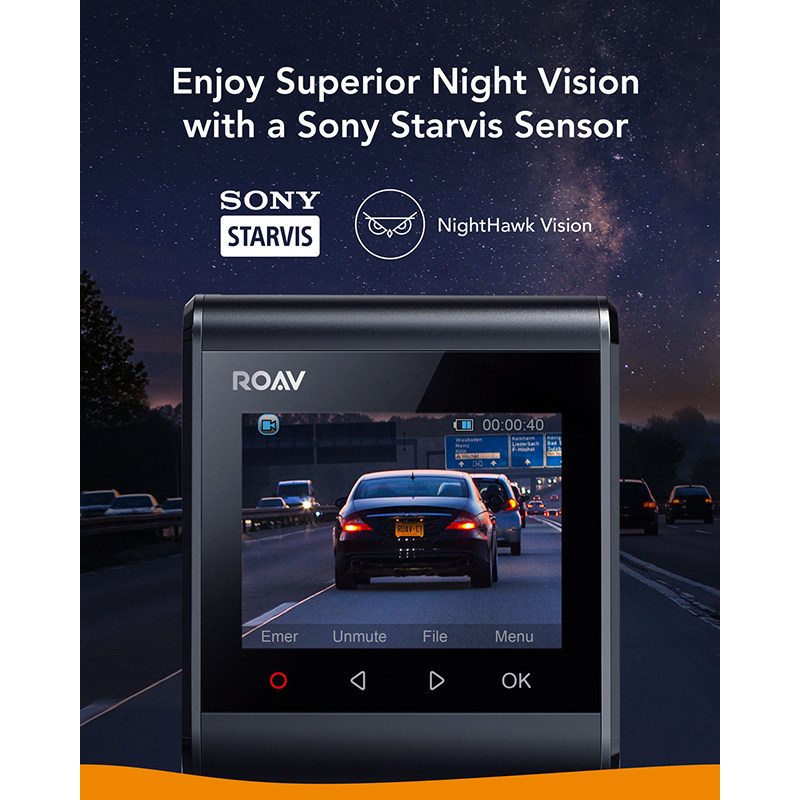 Anker Roav Dash Cam S1, Dashboard Camera with Sony Sensor, Full HD 1080p, NightHawk Vision,Built In GPS, Wi Fi & Wide Angle Lens - 3