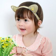 1 Pcs Kids Girls Headband Toddler Girl Baby Cat Ears Hairband Princess Hair Accessories Headwear(China)