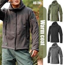 男性ジャケット軍の戦術的なフリースジャケット均一なソフトシェルカジュアルジャケット軍服マルチポケット