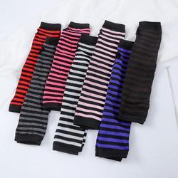 1 Pair Of Soft Elastic Wrist Knitted Fingerless Half-finger Wrist Sleeves Warm Arm Knitted Gloves Women Winter Long Fingerless G