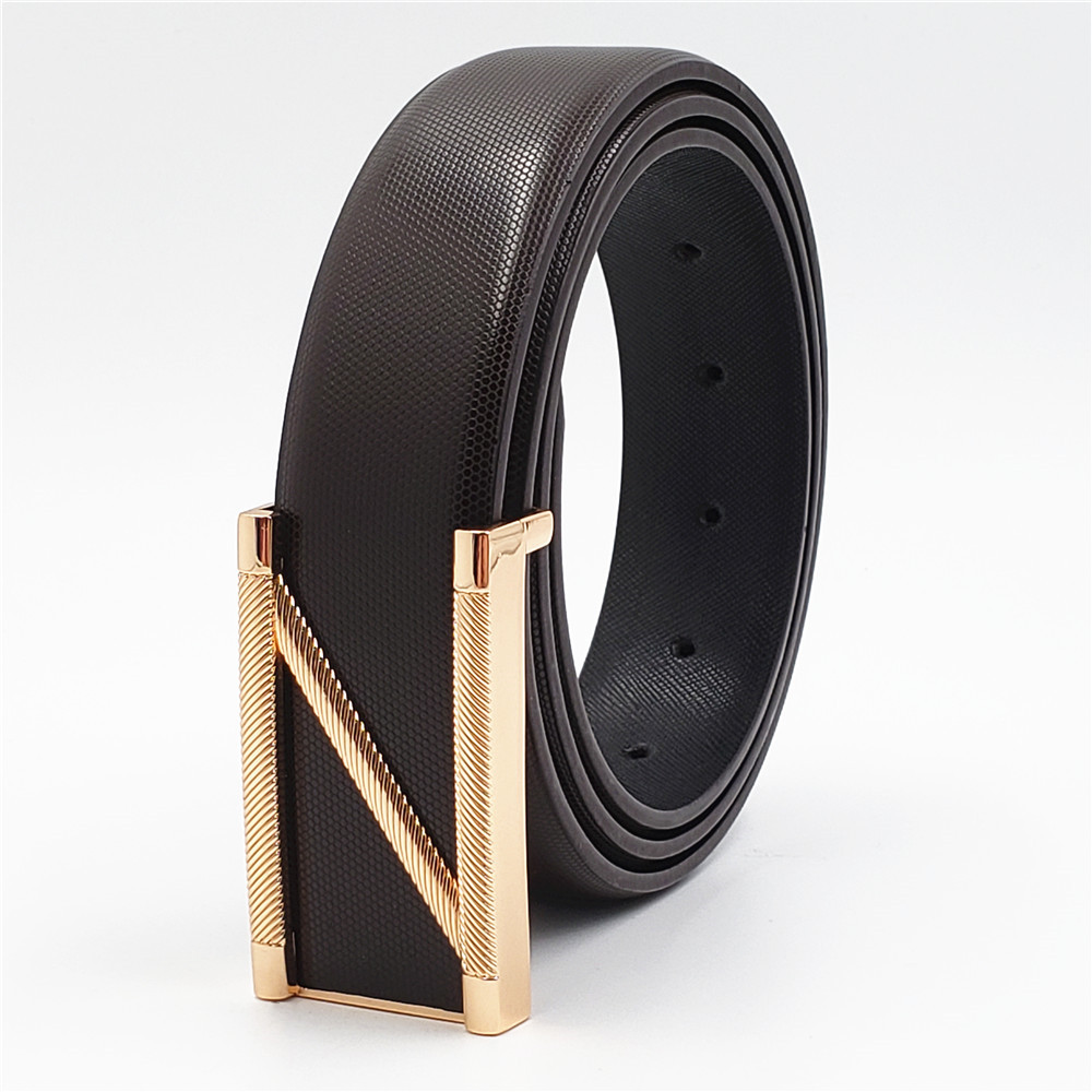 2019 New Mens Fashion Belts Z Smooth Buckle Business High Quality Leisure Male Genuine Leather Men Jeans