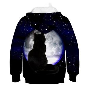 Image 4 - 3D Kitty Print Hoodie Pullover Style Cat Print Tide Sweater Kids Sweatshirt Fashion Boys and Girls Casual Hoodie