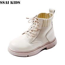 Ssai kids/Ботинки martin для девочек; Детская обувь; Модные