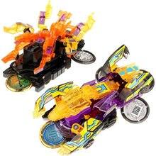Screechers explosão selvagem flips transformação adesivos robô carro anime figuras de ação caçador captura chip wafer crianças meninos menina brinquedos