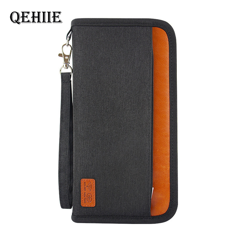 Quality Travel Anti-RFID Passport Package Credit Card Package Passport Clip File Multi-card Organizer Bag Clutch Travel Wallet
