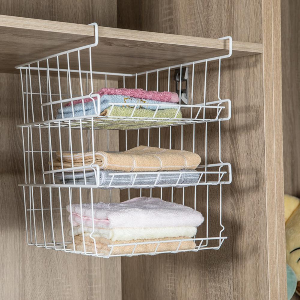 Home Storage Basket Kitchen Multifunctional Storage Rack Under Cabinet Storage Shelf Basket Wire Drain Rack Organizer