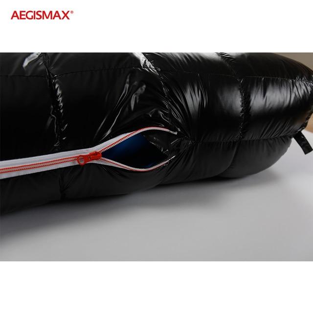 AEGISMAX G Winter 95% Goose Down Sleeping Bag 15D Nylon Waterproof FP800 Warm Comfort Outdoor Camping -22℉~-10℉ Sleeping Bag 5