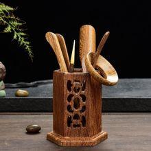 [GRANDNESS] шестигранник дерево венге Ча Дао Набор 6 шт. чайная утварь для китайского кунг-фу чайная церемония ChaDao набор инструментов