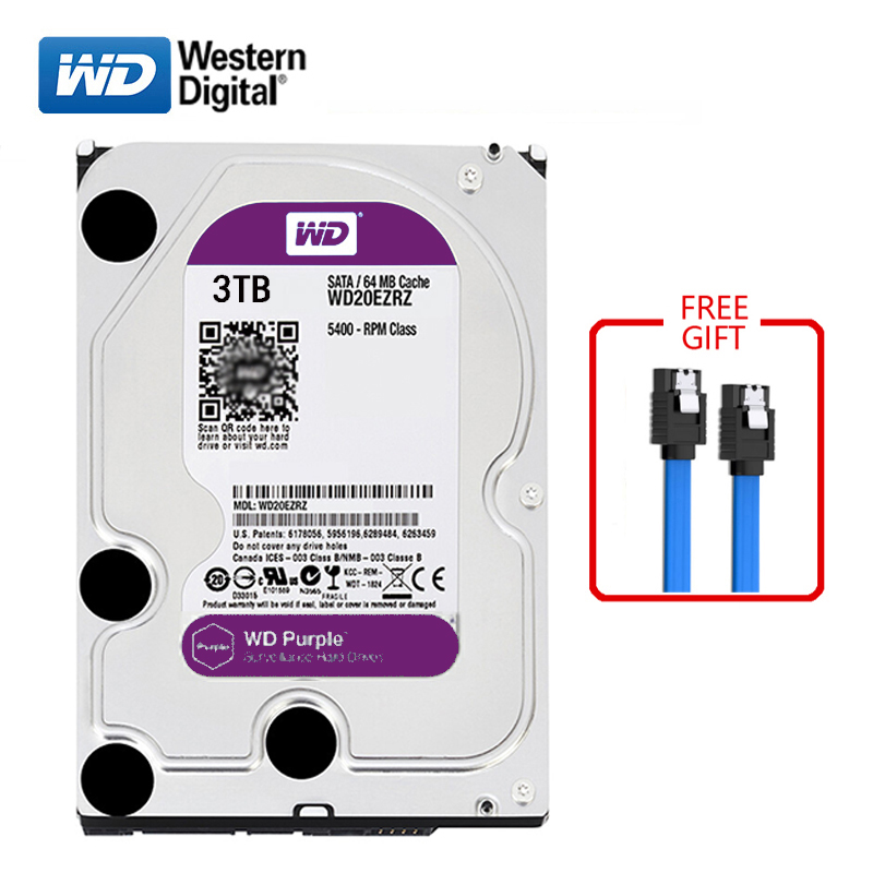 WD Purple Brand 3000GB Internal Hard Disk 3.5