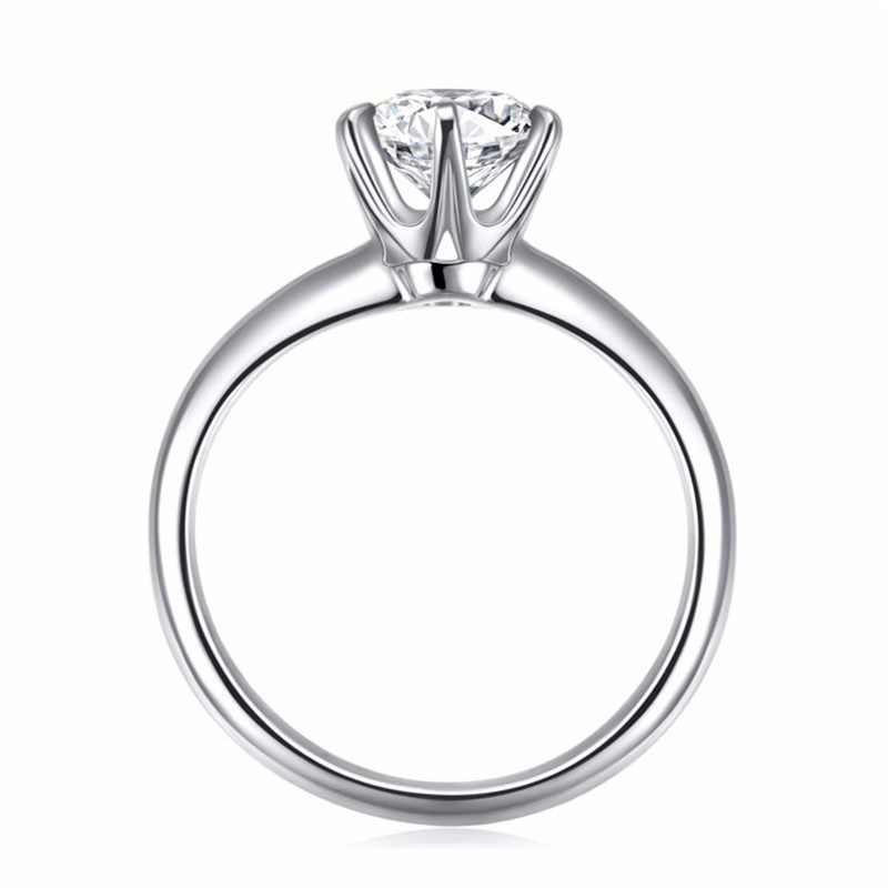 Vendere in perdita! Classico di lusso 1 Carat Lab Diamond Ring Con Certificato 18KRGP Stamp Oro Bianco Pt Anelli di Cerimonia Nuziale Per Le Donne del Regalo