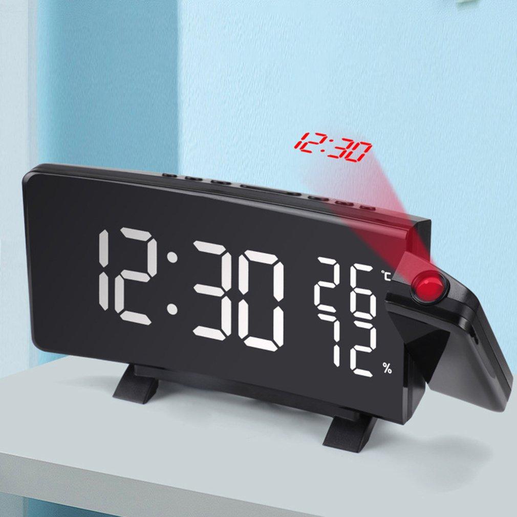 Electronic LED Clock Thermometer Hygrometer Household Children Desktop Fashion Creative Digital Small Alarm Clock