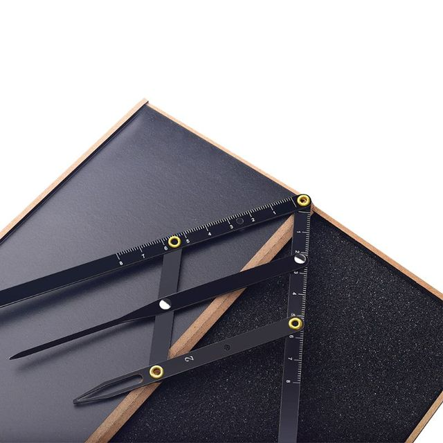 Stainless Steel Eyebrow Caliper Gold Ratio Divider Sliding Measuring Ruler Three-point Positioning Balance Rulers Stencil Tool 5