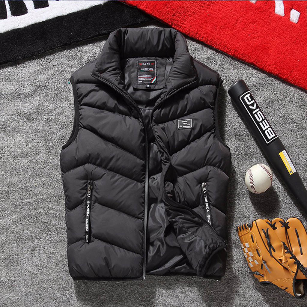 JAYCOSIN Jacket Men Chaqueta Hombre 2019 Autumn Winter Warm Outwear  Coat  Sleeveless Zipper Men Jacket Jaqueta Masculino 19AUG5