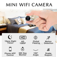 Wifi Mini Camera HD 1080P Video Audio Recorder 10pcs IR Night Vision Motion Sensor Micro Cam Camcorder Support hidden TF Card