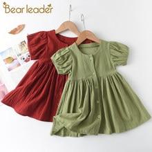 Bear Leader – Robe d'été pour filles, tenue princesse, vêtements décontractés, motif Floral