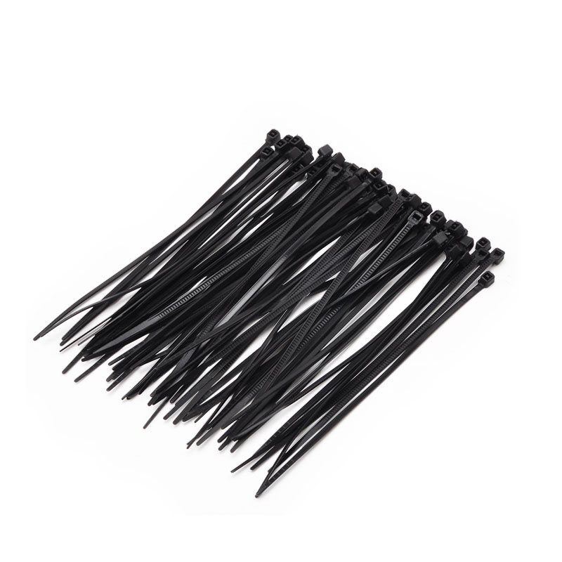 Self-Locking Plastic Nylon Wire Cable Zip Ties 100pcs Black Cable Ties Fasten Loop Cable Various Specifications