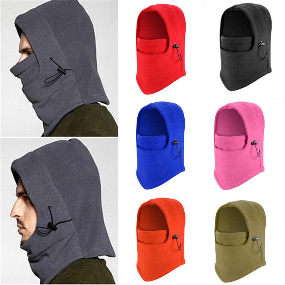 Bonnet coupe-vent cagoule hiver chaud polaire chapeau unisexe