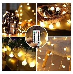 Светодиодный гирлянда с серебряной проволокой для дома, Рождества, свадьбы, Нового года, вечерние украшения с 8 режимами дистанционного упр...