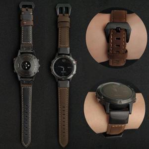 Image 3 - YOOSIDE Fenix 6 Wristband 22mm Quick Fit Genuine Leather Watch Band Strap for Garmin Fenix 5/5 Plus/Forerunner 935/Instinct