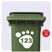 Stickers Wheelie-Bin House-Number Customized Personality 15cmx18cm 3-X-White Butterfly