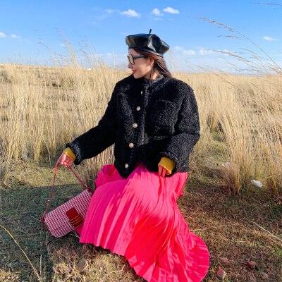 2019 New Style High-end Fashion Women Faux Fur Coat C32