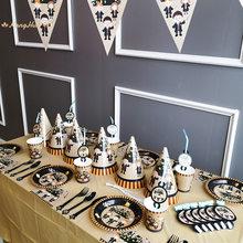 Vaisselle jetable de fête d'anniversaire Harried Happy Birthday, assiettes, tasses, nappe, thème magique de poterie, fournitures de fête murale d'anniversaire pour enfants