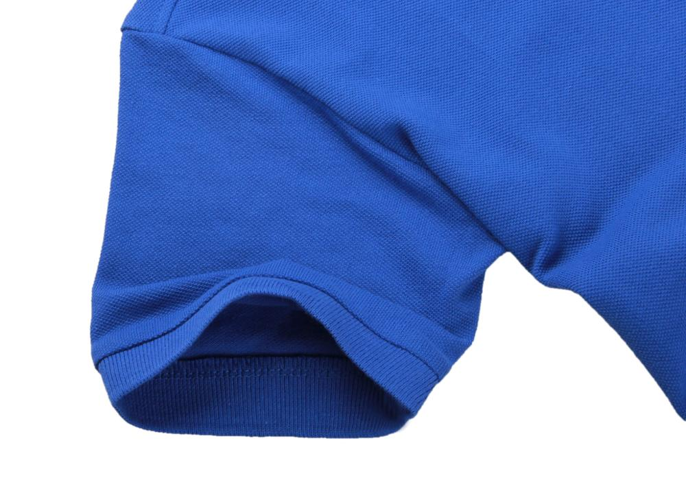 Image 2 - Мужская летняя рубашка поло, брендовая Модная хлопковая рубашка поло с коротким рукавом, мужские однотонные майки из дышащего ДжерсиПоло   -