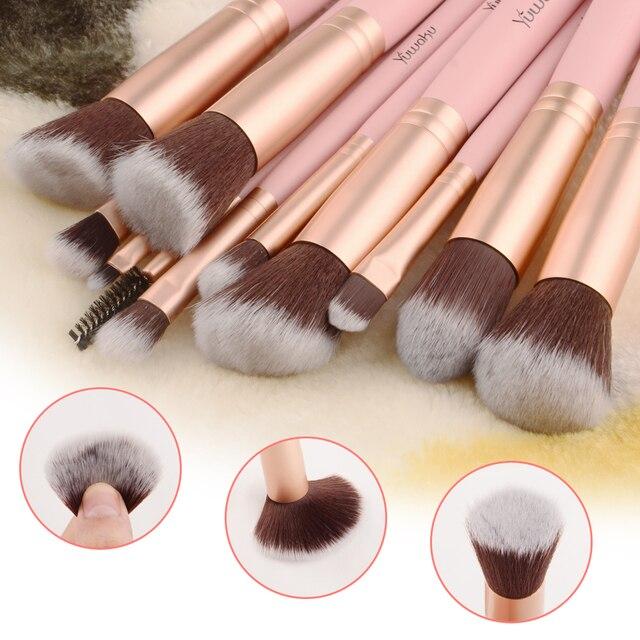 14Pcs Fashion Makeup Brushes Set Eye Shadows Powder Foundation Cosmetics Beauty Soft Hair Maquiagem Brushes Tool Kits 3