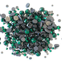 Emerald DMC Hot Fix Rhinestone Dark สี(China)