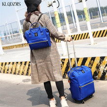 KLQDZMS   Fashion Oxford Trolley Bag Set Carry On Luggage With Spinner Wheels Colorful Travel Luggage For Women And Men