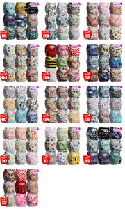 Image 2 - [Littles&Bloomz]9pcs/set STANDARD Hook Loop Reusable Washable Nappy Diaper,9 nappies/diapers and 0 microfiber inserts in one set