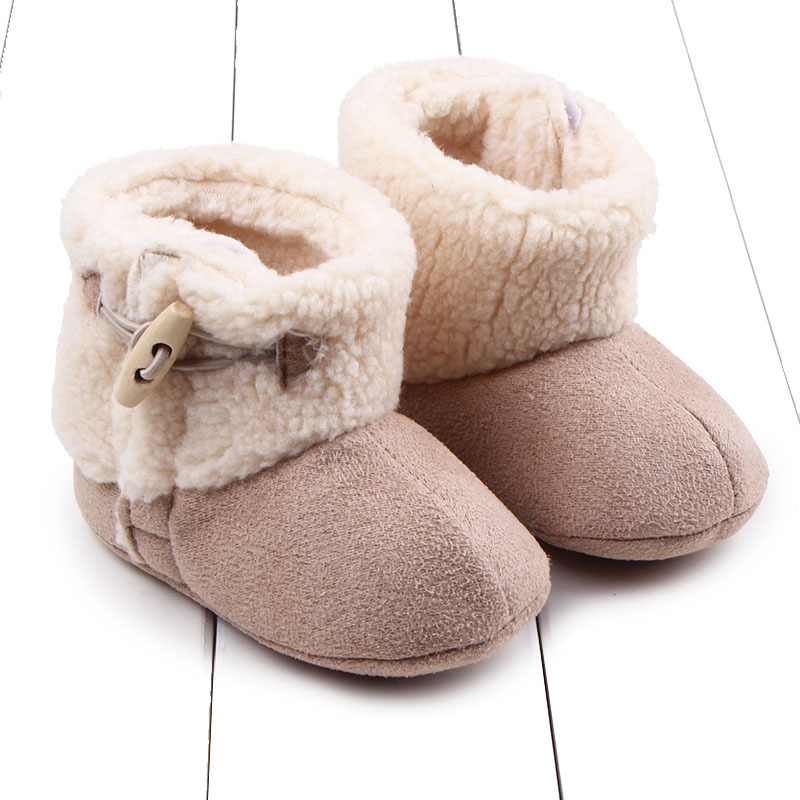 Casual Newborn Infant Baby Girls Boys Ankle Snow Boots Non-slip Winter Half Boots Soft Bottom Keep Warm Fur Plush Insole Shoes