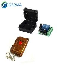 Germa 433mhz universal sem fio rf interruptor de controle remoto dc 12v 10a 1ch relé módulo receptor e 433.92 mhz controles remotos