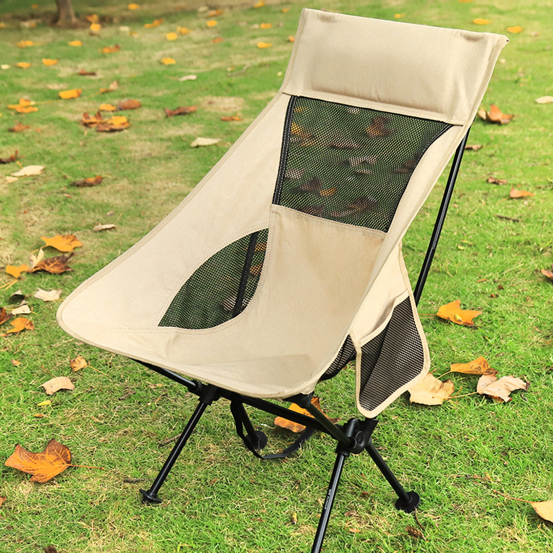 Camping Chair High Back Folding Camp Chair for Fishing, Garden Backpacking Outdoor Camping Chair for Beach Travel Recliner 1