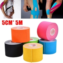 6 Rolls/set Kinesiology Tape Athletic Recovery Elastic Tape Kneepad Muscle Pain Relief Knee Pads Support for Gym Fitness Bandage