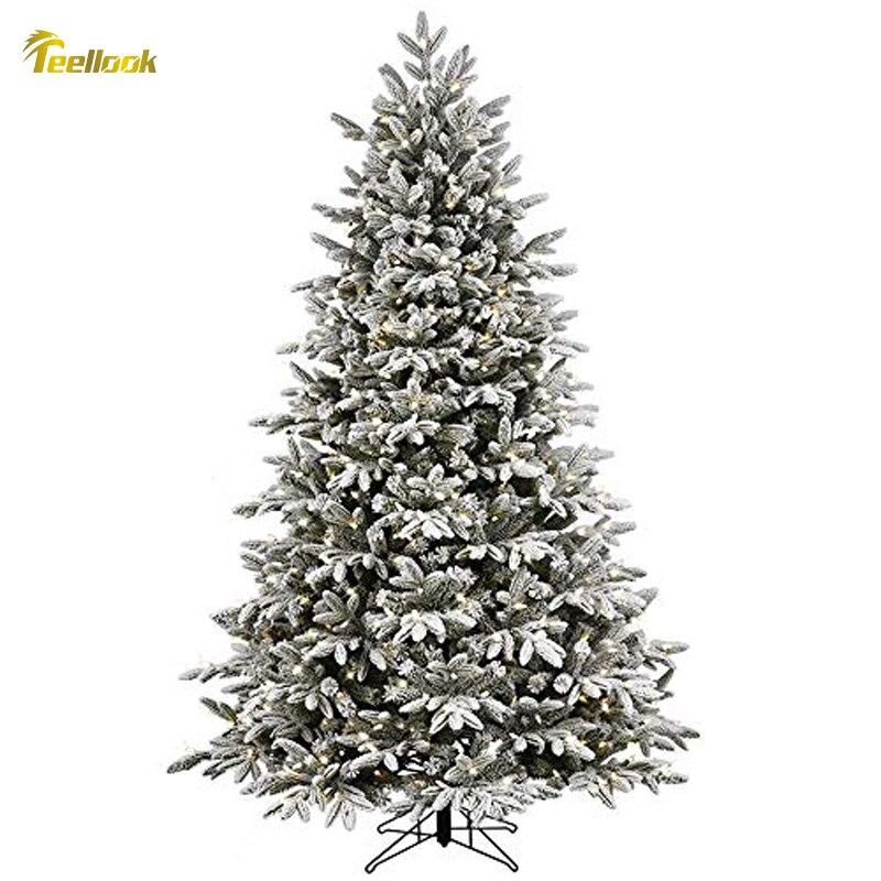 Teellook 1,2 м/3,0 м Снежная Рождественская елка PE + ПВХ материал светодиодный светильник источник Новый год Рождество отель украшение дома
