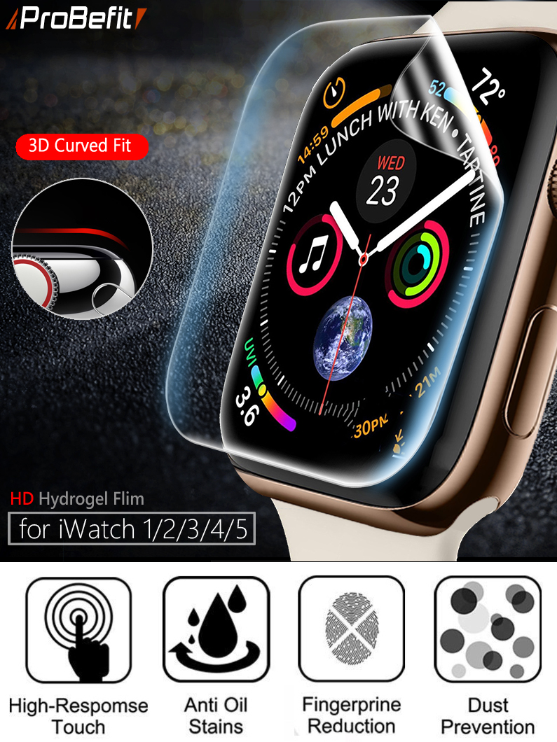Screen-Protector Not-Tempered-Glass Apple Watch Full-Protective-Film SE 1-38mm 44MM