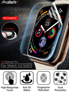 Screen-Protector Protective-Film Not-Tempered-Glass Apple Watch Full-Coverage 44MM Clear