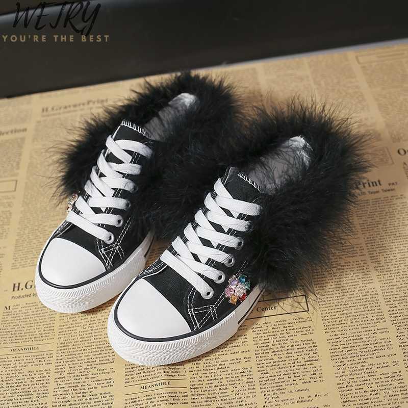 ผู้หญิงจริงรองเท้าแบน Loafers Vulcanize รองเท้าผู้หญิงรองเท้าลำลอง Neutral แฟชั่นรองเท้าผ้าใบคลาสสิก