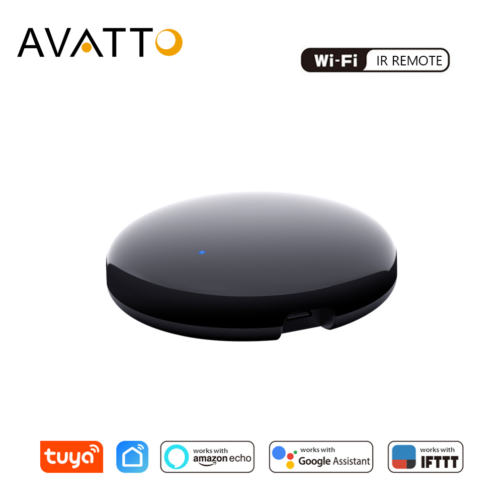 AVATTO Tuya WiFi IR Remote Control For Air Conditioner TV, Smart Home Infrared Universal Remote Controller For Alexa,Google Home